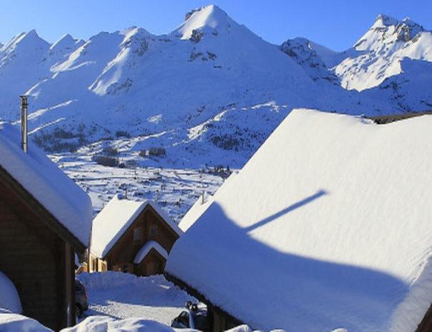 Chalets Résivacances sous la neige
