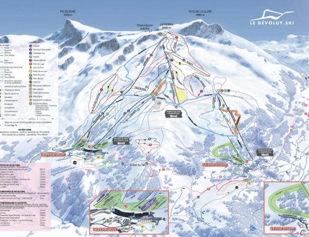Plan des pistes ski Joue du Loup